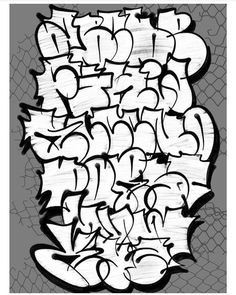 Graffiti Drawings Words, Graffiti Alphabet Styles, Graffiti Lettering Alphabet, Graffiti Names, Name Drawings, Graffiti Piece, Tattoo Lettering Fonts, Graffiti Font, Graffiti Designs