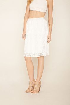 Contemporary Pleated Lace Skirt