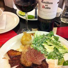 Casillero del Diablo y picaña  #meat #wine