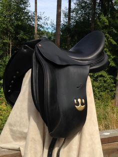 "18"" Bruno Delgrange Black Dressage Saddle-Syracuse Model-Wide Tree-Custom-France #BrunoDelgrange"