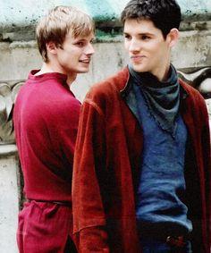 Colin Morgan and Bradley James. <3