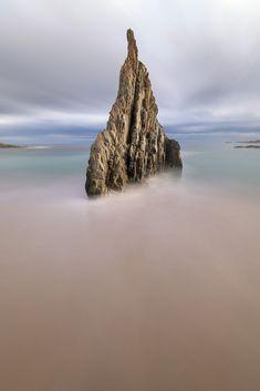 The Needle Playa Mexota Obelisk in the Morning Tapia de Casariego Asturias Spain [OC] [1365x2048] - ansharphoto - #nature #travel #landscape
