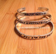 Dr. Who Inspired Customized Bracelet  hand stamped by NerdyNoodle, $12.00