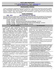 11 Manufacturing Manager Resume   Riez Sample Resumes