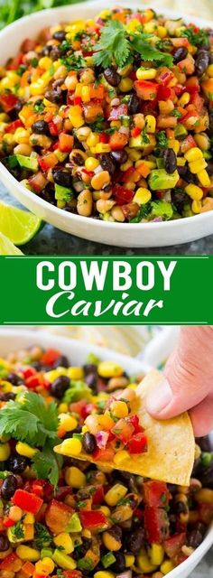 Cowboy Caviar Recipe | Bean Salad Recipe | Bean Dip Recipe | Corn and Bean Dip