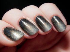 Smoky Holographic Gradient with I Love Nail Polish | Chalkboard Nails | Nail Art Blog