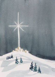 watercolour and in religious christmas card - Google Search