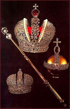 The Russian Crown Jewels.  The crown at the top of the picture is Catherine the Great's Coronation Crown.