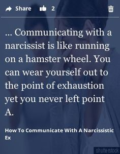 Omg! Yes!! For anyone who has been in a relationship with a narc knows that you can't negotiate, convince or reason with a narc!! It's so completely frustrating. Such a relief to be done with that!