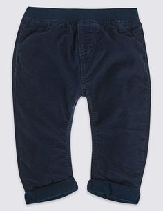 Pure Cotton Pull On Trousers | Marks & Spencer London