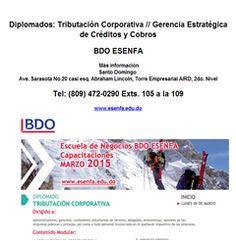 Diplomados: Tributación Corporativa // Gerencia Estratégica de Créditos y Cobros -Publicidad