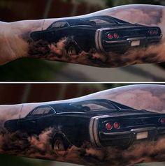 Black Beautiful Classic Car Tattoo Tattoos | tattoos picture car tattoos