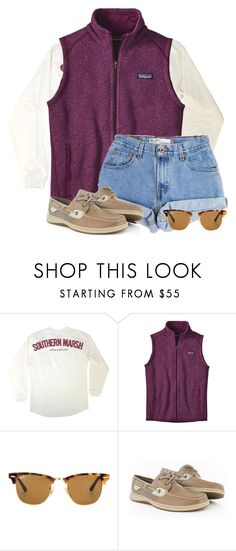 """""""Patagonia summer"""" by flroasburn on Polyvore featuring Patagonia, Levi's, Ray-Ban and Sperry"""