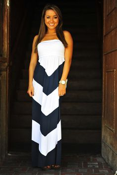 Get To The Point Maxi Dress: Navy   Hope's