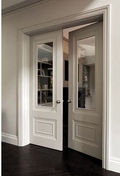 Door Design, House Design, Double Glass Doors, Double Doors Interior, Indoor Doors, Room Doors, Internal Doors, Office Interiors, Design Case