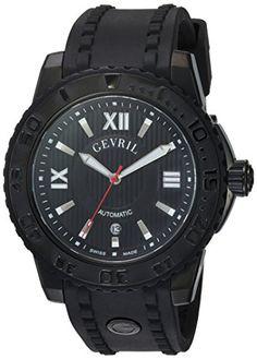 Gevril Men's 3110 Seacloud Analog Display Automatic Self Wind Black Watch