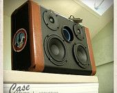 Handmade 1 of a kind - Suitcase Speaker by Case Study - Acoustics. $1,295.00, via Etsy.