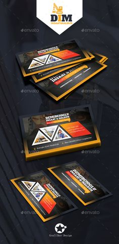 Construction Business Card Templates — Photoshop PSD #Building Materials #engineering • Available here → https://graphicriver.net/item/construction-business-card-templates/16288219?ref=pxcr