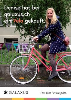Denise hat bei galaxus.ch ein Velo gekauft. #GalaxusLive #Galaxus