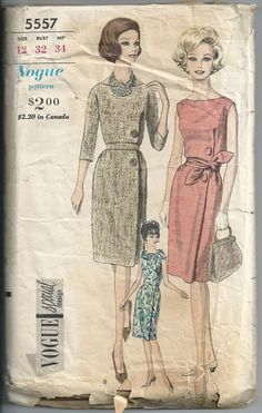 1960s Misses Slim Sheath One Piece Dress Side Front Buttons Oval Neck Vogue Special Design 5557 Bust 32 Women's Vintage Sewing Pattern di RoseCorners su Etsy https://www.etsy.com/it/listing/217136305/1960s-misses-slim-sheath-one-piece-dress