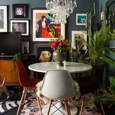 London House Tour: A Dark-Walled UK Maximalist Home | Apartment Therapy