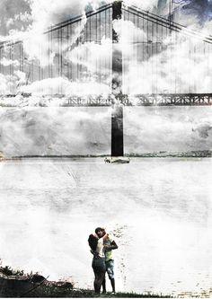 Love under the bridge Artistic Artistic Vision Bridge Bridge - Man Made Structure Fine Art Fine Art Photograhy Hug Landscape Leisure Activity Lisbon - Portugal Love Outdoors People Real People River Riverscape Sky Standing Vision Water
