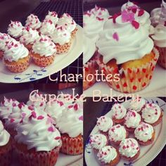 Charlotte's Cupcake Bakery : Blåbærcupcake med flødebolleskum