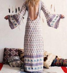 Robe longue hippie chic blanche avec par Lacavernehippiechic