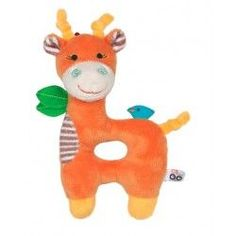 Zoocchini Baby Rattle in Orange Giraffe - Rattles Hooded Bath Towels, Baby Smiles, Baby Towel, Stroller Blanket, Childrens Gifts, Baby Rattle, Kids Bath, New Baby Gifts, Giraffe