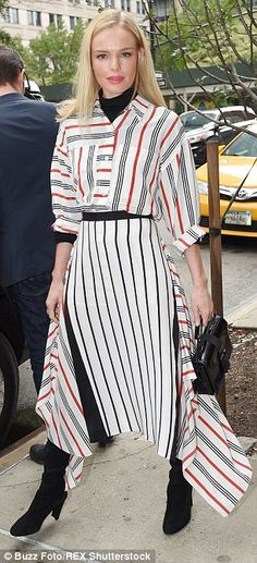 Fashionista: Kate Bosworth slipped into three different outfits in the space of a few shor...