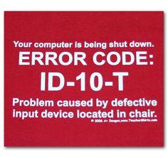EC-ID10T Error
