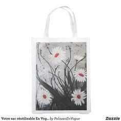 Votre sac réutilisable En Vogue pourquoi pas? Ted, Vogue, Tote Bag, Bags, Style, Paint, Handbags, Swag, Totes