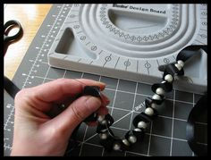 Another good tutorial on making ribbon and bead necklaces. So casual chic.