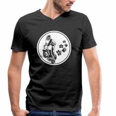 Männer Bio-T-Shirt mit V-Ausschnitt von Stanley & Stella - Auf die Details kommt es an: Das klassisch geschnittene T-Shirt setzt mit stilvoller Ausschnittlösung in V-Form dezent Akzente. MOTORRAD BILD, WEIHNACHTSMANN AUF EINEM MOTORRAD.