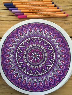 #mandala | coloring for adults | #stabilo                              …
