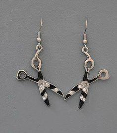 #Zebra #Stripe #Bling #Dangle #Earrings #Animal #Print #Fashion #Jewelry #Beauty #Salon #Hair #Stylist $15.00 http://www.shearbling.com/catalog.php?item=139