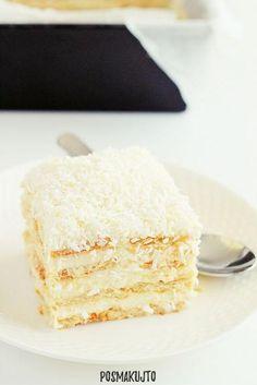 Dessert Recipes, Desserts, Vanilla Cake, Healthy Recipes, Healthy Food, Food And Drink, Sweets, Bakken, Raffaello