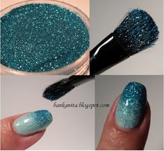 Super cute and easy glitter nail! Love <3