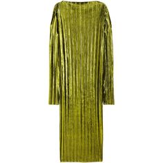 Metallic Shimmering Dress $49.99 ($50) ❤ liked on Polyvore featuring dresses, green jersey, long sleeve midi dress, mid calf dresses, calf length dresses and long sleeve jersey