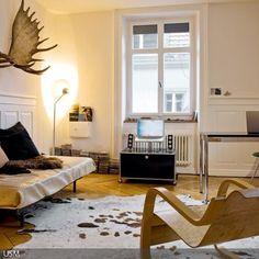 Wohnzimmer Skandinavisch Einrichten Kuhfell Teppich   Wohngzimmer ... Kuhfell Teppich Wohnzimmer