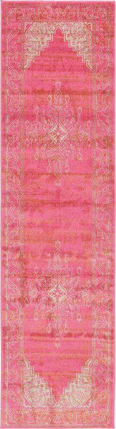 Pink 2' 7 x 10' Aria Runner