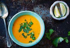 Thai Coconut Peanut Sweet Potato Soup