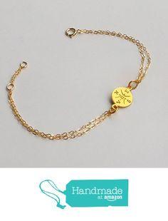 Gold filled compass bracelet. from Fashiongurus https://www.amazon.com/dp/B01GK4MZ98/ref=hnd_sw_r_pi_awdo_ioRpybG9N8DHE #handmadeatamazon