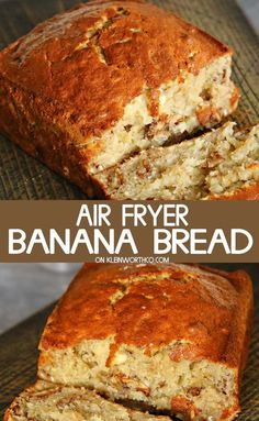 Air Fryer Banana Bread is easy to make & takes only 40 minutes. Loaded with nuts… Air Fryer Banana Bread is easy to make & takes only 40 minutes. Loaded with nuts & delicious banana flavor, it's a classic breakfast recipe, simplified. Air Fryer Recipes Chips, Air Fryer Recipes Dessert, Air Fryer Recipes Vegetarian, Air Fryer Recipes Low Carb, Air Fryer Recipes Breakfast, Air Frier Recipes, Air Fryer Rotisserie Recipes, Airfryer Breakfast Recipes, Breakfast Meals