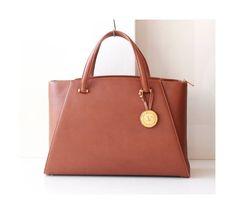 Valentino Garavani Brown Leather Tote Kelly Large handbag Gold Medal Authentic Vintage purse Rare by hfvin on Etsy  #valentino #garavani #brown #tote #handbag #medal #hfvin