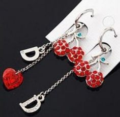 #fashion earring #red with silver fashion earring right up your mood   #red earring