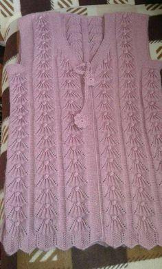 Pistazie-Palast-the-Weste Strickmuster , Baby Knitting Patterns, Knitting Stiches, Easy Knitting, Beginner Knitting, Crochet Designs, Knitting Designs, Diy Crafts Knitting, Knit Vest Pattern, Cardigan