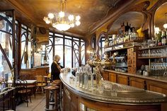 Bistrot du Peintre, a two-story Art Nouveau eatery that's been around since 1902. It's located in the 11th, a short walk from the Bastille and the Marais,