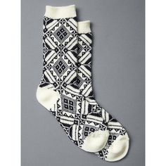 Gap Women Nordic Boot Socks ($13) ❤ liked on Polyvore featuring intimates, hosiery, socks, regular, true indigo, knit socks, ribbed socks and gap socks