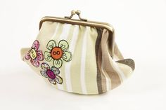 embroidered flower metal frame purse by lizzie searle | notonthehighstreet.com